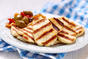 Halloumi cheese grilled