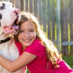 Great Dane with kids