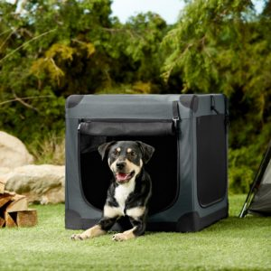 Frisco Indoor/Outdoor 3-Door Collapsible Soft Sided Dog Crate
