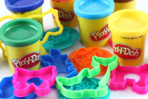 Play-Doh with molds